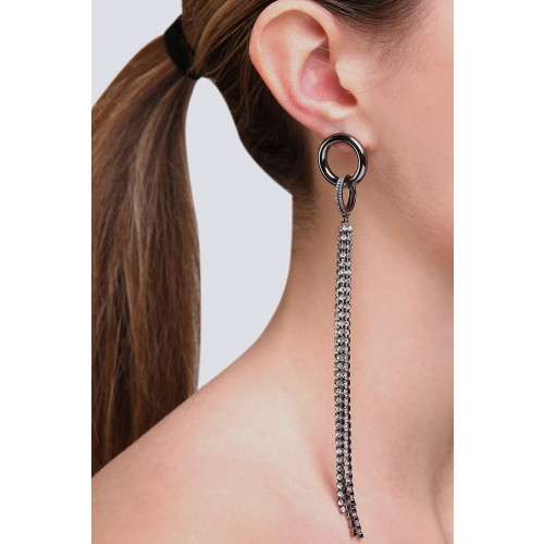 Vendita Abbigliamento Usato FIrmato - Orecchini con pendente - Federica Tosi - Drexcode -2