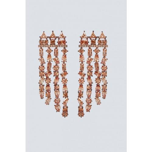 Vendita Abbigliamento Usato FIrmato - Orecchini chandelier champagne - Nickho Rey - Drexcode -1