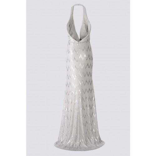Vendita Abbigliamento Usato FIrmato - Abito silver con spacco - Forever unique - Drexcode -2
