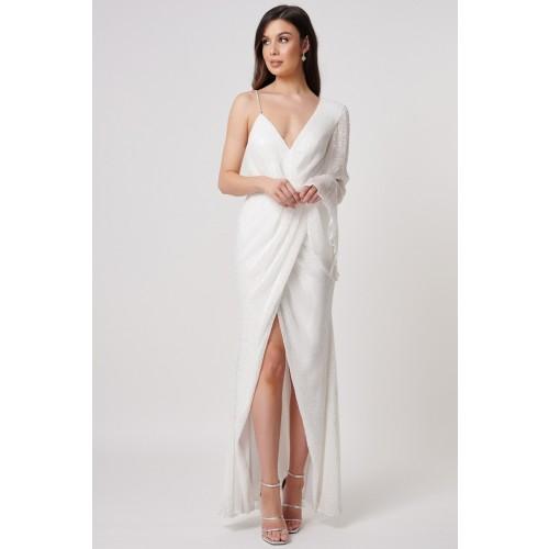 Vendita Abbigliamento Usato FIrmato - Abito bianco monospalla in paillettes - Forever unique - Drexcode -1