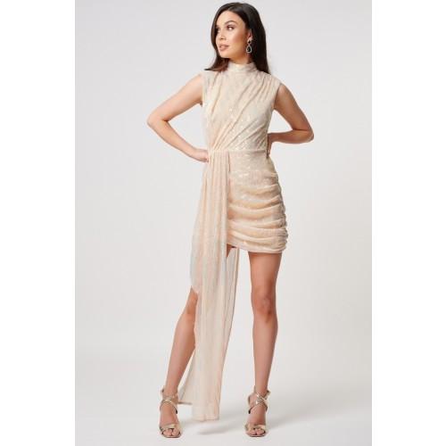 Vendita Abbigliamento Usato FIrmato - Abito dorato con drappeggi - Forever unique - Drexcode -1