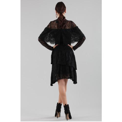 Vendita Abbigliamento Usato FIrmato - Abito corto nero con balze e maniche a mantella - Perseverance - Drexcode -7