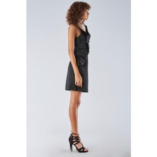 Vendita Abbigliamento Usato FIrmato - Abito corto nero con spallina - Amur - Drexcode -4