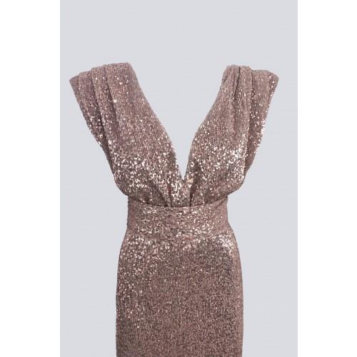 Vendita Abbigliamento Usato FIrmato - Abito lungo rosa con paillettes - Drexcode - Drexcode -2