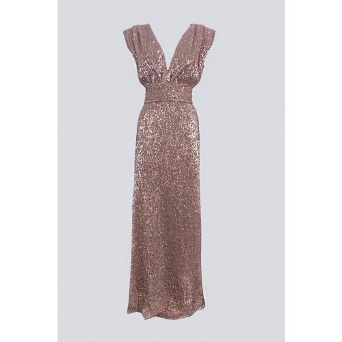 Vendita Abbigliamento Usato FIrmato - Abito lungo rosa con paillettes - Drexcode - Drexcode -1