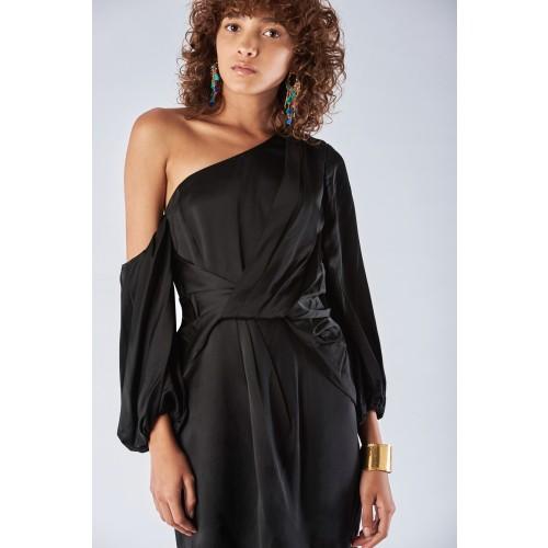 Vendita Abbigliamento Usato FIrmato - Abito monospalla con manica off-shoulder - Amur - Drexcode -3