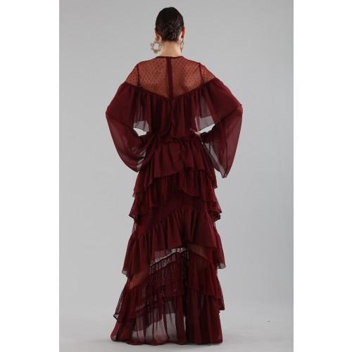 Vendita Abbigliamento Usato FIrmato - Abito lungo burgundy con volant - Perseverance - Drexcode -7