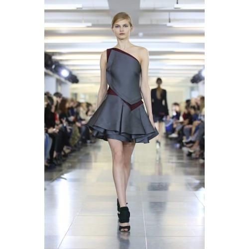 Vendita Abbigliamento Usato FIrmato - Abito monospalla bicolor con rouches - Antonio Berardi - Drexcode -5