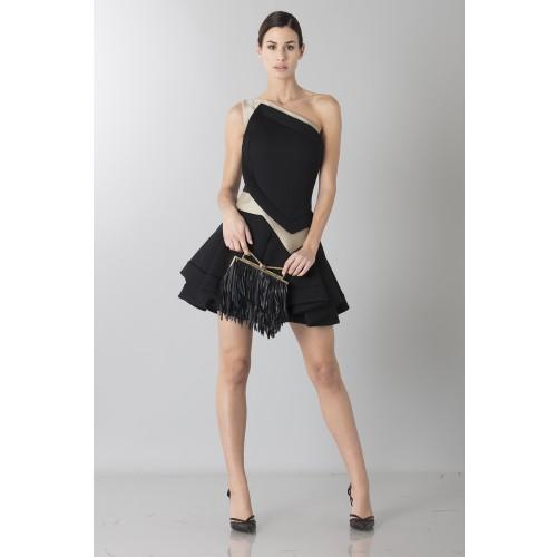 Vendita Abbigliamento Usato FIrmato - Abito monospalla bicolor con rouches - Antonio Berardi - Drexcode -6