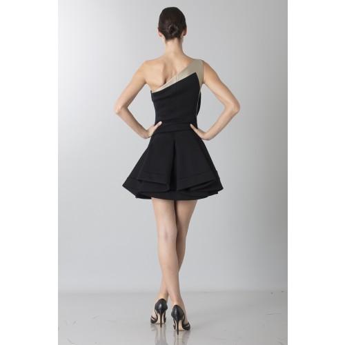 Vendita Abbigliamento Usato FIrmato - Abito monospalla bicolor con rouches - Antonio Berardi - Drexcode -8