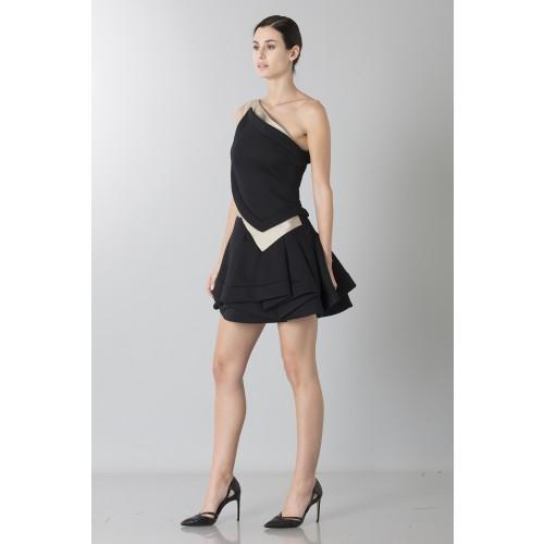 Vendita Abbigliamento Usato FIrmato - Abito monospalla bicolor con rouches - Antonio Berardi - Drexcode -7