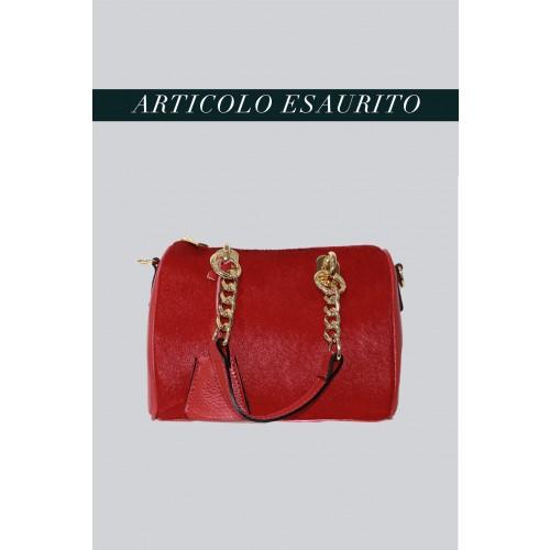 Vendita Abbigliamento Usato FIrmato - Mini bauletto in cavallino rosso - AM - Drexcode -8