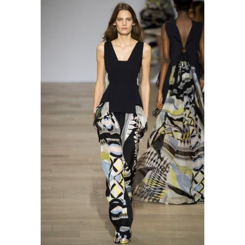 Vendita Abbigliamento Usato FIrmato - Pantalone e top in seta fantasia - Antonio Berardi - Drexcode -1