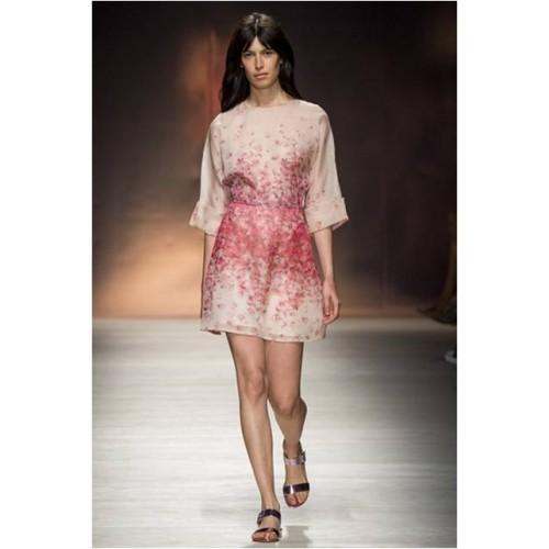 Vendita Abbigliamento Usato FIrmato - Abito in organza di seta con stampa floreale - Blumarine - Drexcode -1