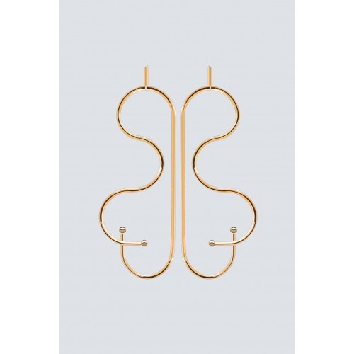 Vendita Abbigliamento Usato FIrmato - Orecchini a forma di farfalla in oro - Noshi - Drexcode -1