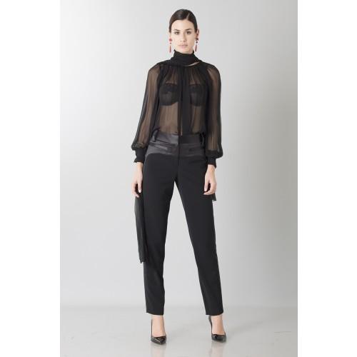 Vendita Abbigliamento Usato FIrmato - Camicia nera in seta - Blumarine - Drexcode -3