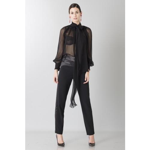 Vendita Abbigliamento Usato FIrmato - Camicia nera in seta - Blumarine - Drexcode -1