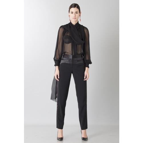 Vendita Abbigliamento Usato FIrmato - Camicia nera in seta - Blumarine - Drexcode -2