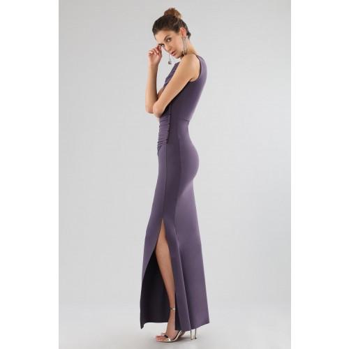 Vendita Abbigliamento Usato FIrmato - Abito prugna con drappeggi - Chiara Boni - Drexcode -16