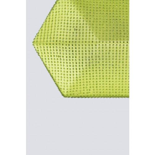 Vendita Abbigliamento Usato FIrmato - Clutch geometrica limone con strass - Anna Cecere - Drexcode -5