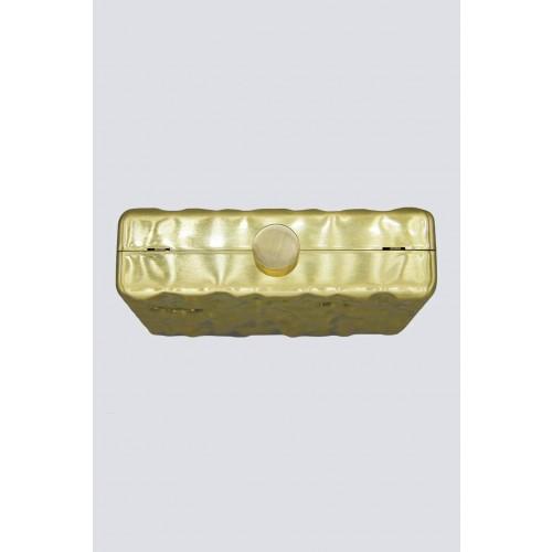 Vendita Abbigliamento Usato FIrmato - Clutch rigida dorata - Anna Cecere - Drexcode -2