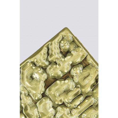 Vendita Abbigliamento Usato FIrmato - Clutch rigida dorata - Anna Cecere - Drexcode -4