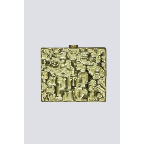 Vendita Abbigliamento Usato FIrmato - Clutch rigida dorata - Anna Cecere - Drexcode -3