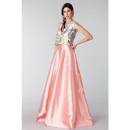 Vendita Abbigliamento Usato FIrmato - Completo gonna rosa e top floreale in seta - Tube Gallery - Drexcode -3