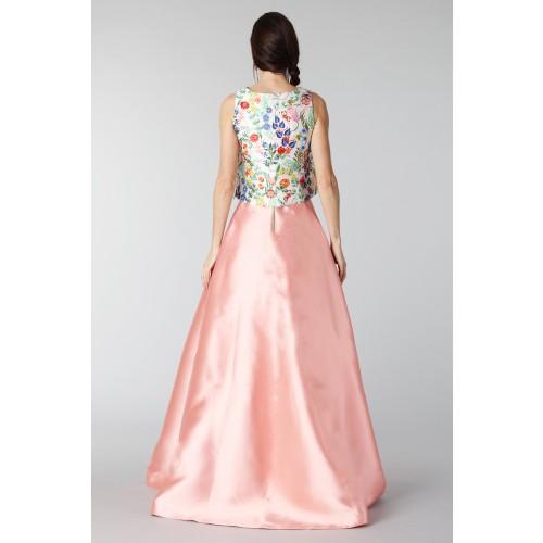 Vendita Abbigliamento Usato FIrmato - Completo gonna rosa e top floreale in seta - Tube Gallery - Drexcode -2