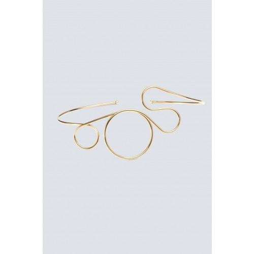 Vendita Abbigliamento Usato FIrmato - Choker in ottone placcato oro - Noshi - Drexcode -1