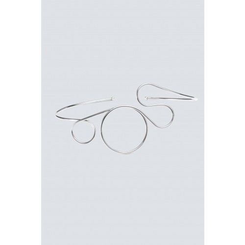 Vendita Abbigliamento Usato FIrmato - Choker in ottone placcato in palladio - Noshi - Drexcode -1