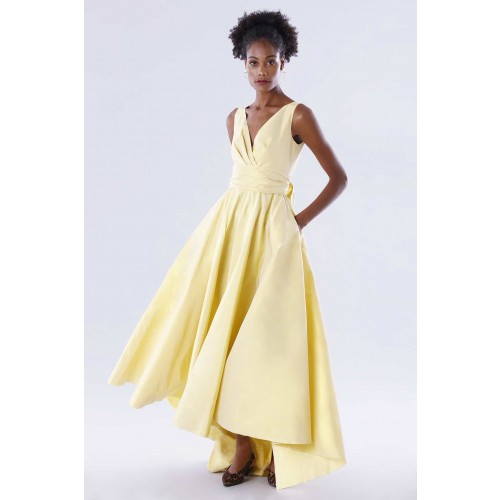 Vendita Abbigliamento Usato FIrmato - Abito giallo in taffeta - Daphne - Drexcode -1