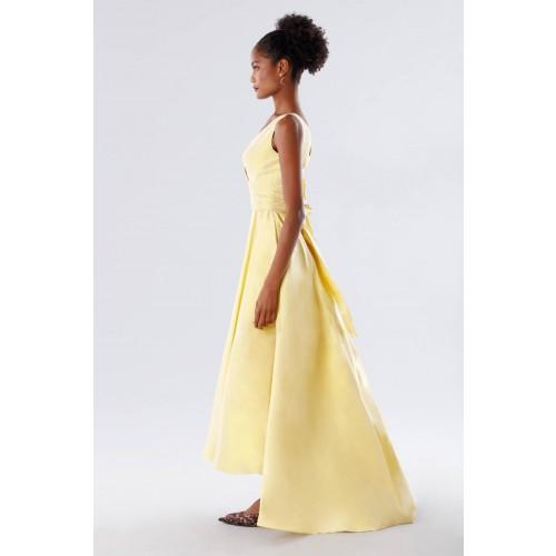 Vendita Abbigliamento Usato FIrmato - Abito giallo in taffeta - Daphne - Drexcode -3