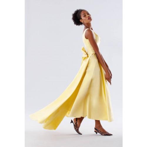 Vendita Abbigliamento Usato FIrmato - Abito giallo in taffeta - Daphne - Drexcode -2