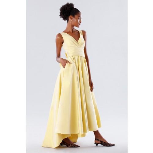 Vendita Abbigliamento Usato FIrmato - Abito giallo in taffeta - Daphne - Drexcode -8