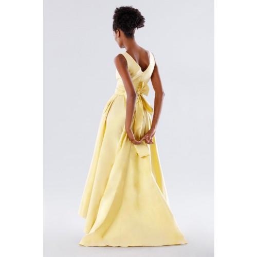 Vendita Abbigliamento Usato FIrmato - Abito giallo in taffeta - Daphne - Drexcode -5