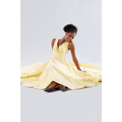 Vendita Abbigliamento Usato FIrmato - Abito giallo in taffeta - Daphne - Drexcode -6
