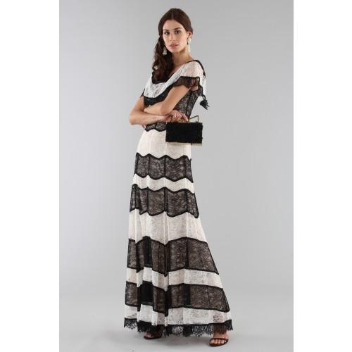 Vendita Abbigliamento Usato FIrmato - Abito a righe in pizzo off shoulder - Alice+Olivia - Drexcode -8