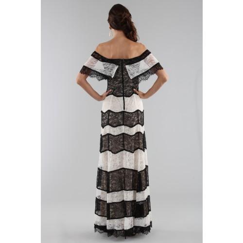 Vendita Abbigliamento Usato FIrmato - Abito a righe in pizzo off shoulder - Alice+Olivia - Drexcode -6