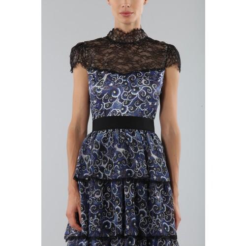 Vendita Abbigliamento Usato FIrmato - Abito blu con balze sovrapposte - Alice+Olivia - Drexcode -1