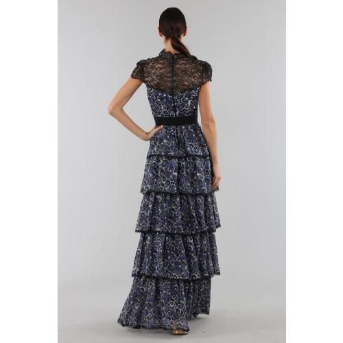 Vendita Abbigliamento Usato FIrmato - Abito blu con balze sovrapposte - Alice+Olivia - Drexcode -2
