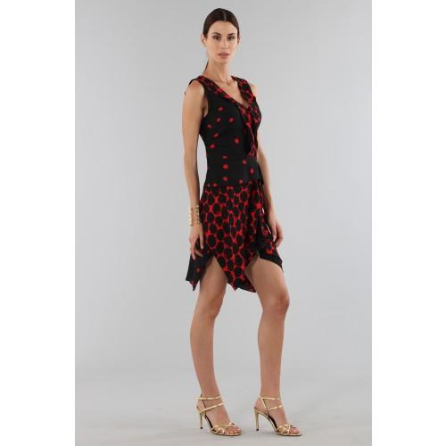 Vendita Abbigliamento Usato FIrmato - Abito corto a pois con bordo asimmetrico - Proenza Schouler - Drexcode -5