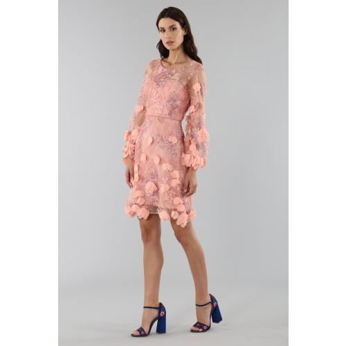 Vendita Abbigliamento Usato FIrmato - Abito da cocktail con ricamo floreale 3D - Marchesa Notte - Drexcode -5
