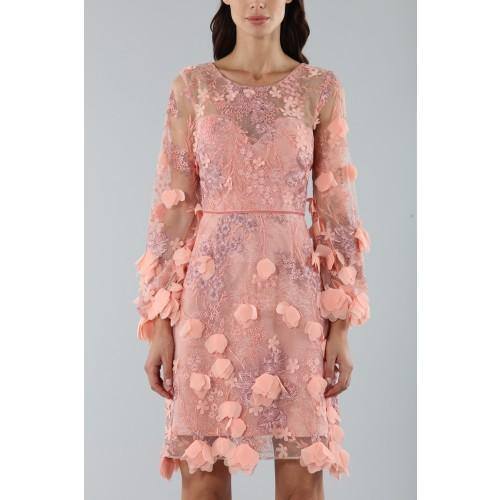 Vendita Abbigliamento Usato FIrmato - Abito da cocktail con ricamo floreale 3D - Marchesa Notte - Drexcode -2