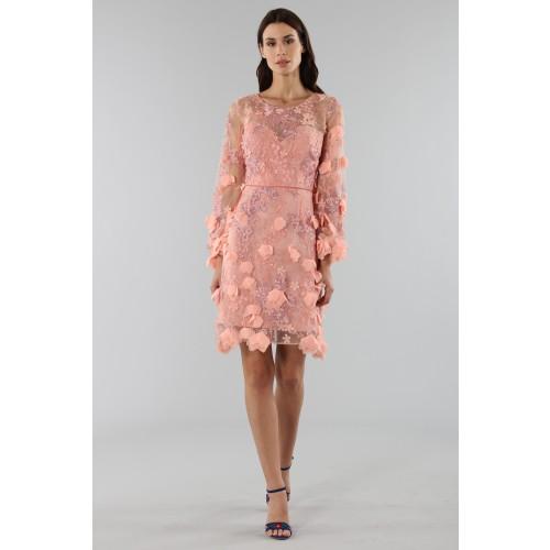 Vendita Abbigliamento Usato FIrmato - Abito da cocktail con ricamo floreale 3D - Marchesa Notte - Drexcode -1