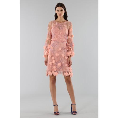 Vendita Abbigliamento Usato FIrmato - Abito da cocktail con ricamo floreale 3D - Marchesa Notte - Drexcode -4