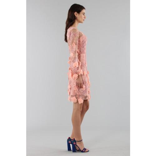 Vendita Abbigliamento Usato FIrmato - Abito da cocktail con ricamo floreale 3D - Marchesa Notte - Drexcode -6