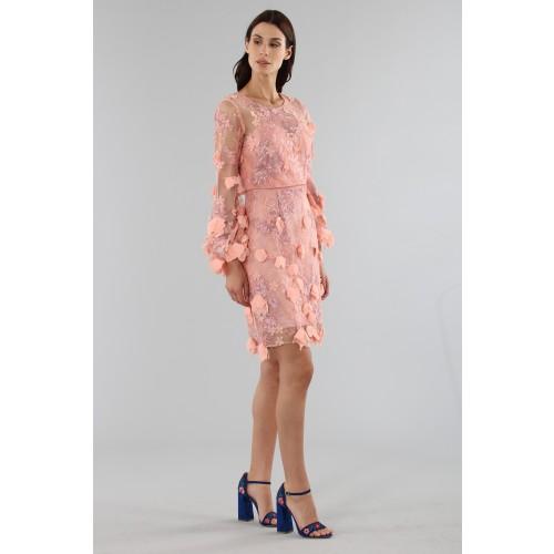 Vendita Abbigliamento Usato FIrmato - Abito da cocktail con ricamo floreale 3D - Marchesa Notte - Drexcode -7