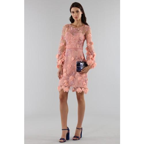 Vendita Abbigliamento Usato FIrmato - Abito da cocktail con ricamo floreale 3D - Marchesa Notte - Drexcode -3