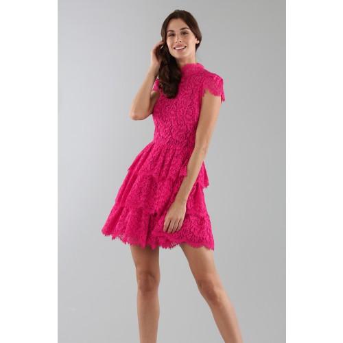 Vendita Abbigliamento Usato FIrmato - Abito fucsia in pizzo con gonna a balze - Alice+Olivia - Drexcode -8